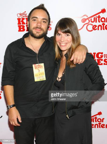 Geoff Renaud and Jill Meenaghan during Guitar Center's King of The Blues at Music Box Fonda Theater in Hollywood California United States