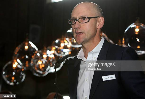 Geoff Ross Executive Chairman of Ecoya Limited addresses the shareholders present at Clooney restaurant on August 9 2010 in Auckland New Zealand...