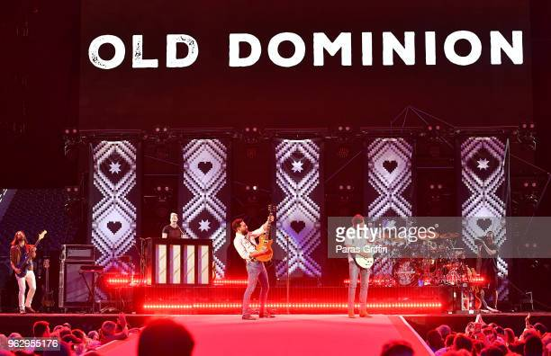 Geoff Spring Trevor Rosen Matthew Ramsey and Brad Tursi of Old Dominion perform in concert at MercedesBenz Stadium on May 26 2018 in Atlanta Georgia