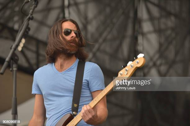 Geoff Sprung of Old Dominion performs onstage at the 33rd Annual Kiss 999 Chili Cookoff at CB Smith Park on January 20 2018 in Pembroke Pines Florida