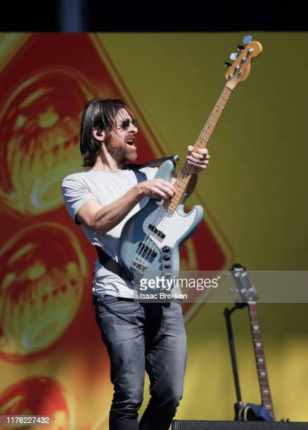 Geoff Sprung of Old Dominion performs onstage during the Daytime Stage at the 2019 iHeartRadio Music Festival held at the Las Vegas Festival Grounds...