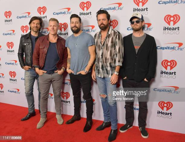 Geoff Sprung Trevor Rosen Matthew Ramsey Brad Tursi and Whit Sellers of Old Dominion arrive at the 2019 iHeartCountry Festival Presented by Capital...