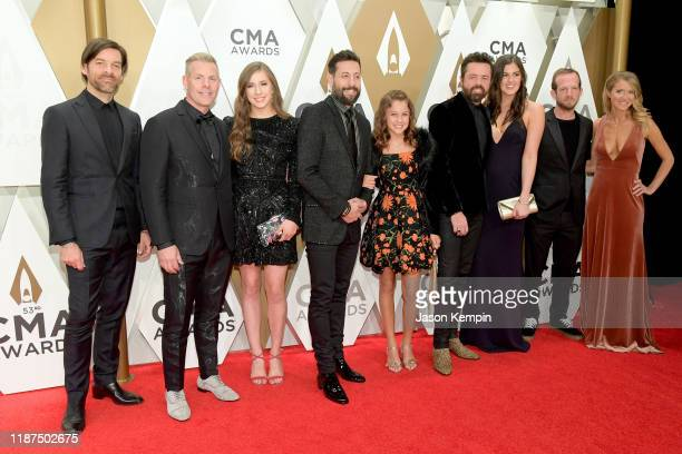 Geoff Sprung Trevor Rosen Matthew Ramsey Brad Tursi and Whit Sellers of Old Dominion attend the 53rd annual CMA Awards at the Music City Center on...