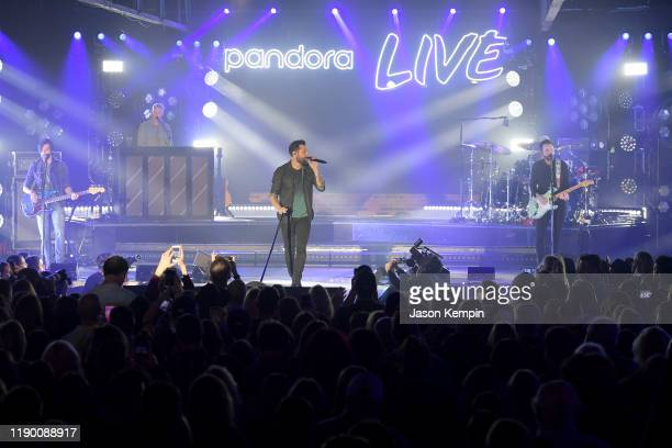 Geoff Sprung Trevor Rosen Matthew Ramsey Brad Tursi and Whit Sellers of musical group Old Dominion perform onstage during Pandora Live at Marathon...