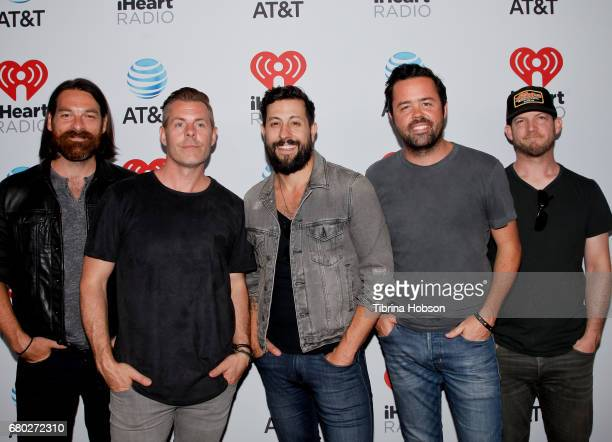 Geoff Sprung Trevor Rosen Matthew Ramsey Brad Tursi and Whit Sellers of Old Dominion attend the 2017 iHeartCountry Music Festival at The Frank Erwin...