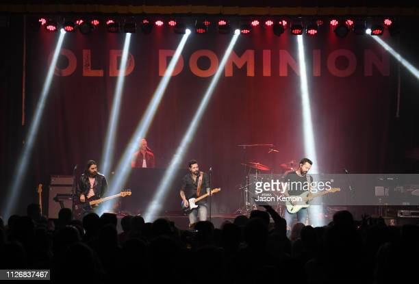 Geoff Sprung Trevor Rosen Matthew Ramsey Whit Sellers and Brad Tursi of Old Dominion perform at The Buckhead Theatre on February 01 2019 in Atlanta...