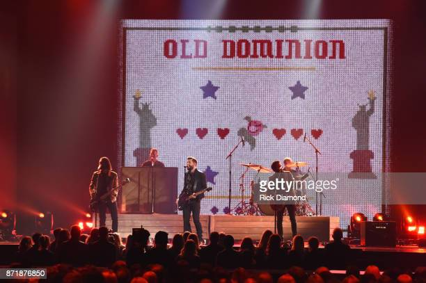Geoff Sprung Whit Sellers Matthew Ramsay Brad Tursi and Trevor Rosen of Old Dominion perform onstage at the 51st annual CMA Awards at the Bridgestone...
