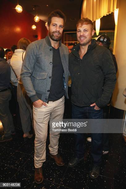 Geoff Stults and George Stults attend the Special Screening Of 12 Strong For MVP's Military Veterans at ArcLight Hollywood on January 9 2018 in...