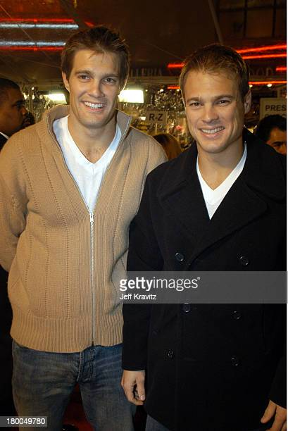Geoff Stults and George Stults during DreamWorks Premiere of Old School Arrivals at Grauman's Chinese Theatre in Hollywood CA United States