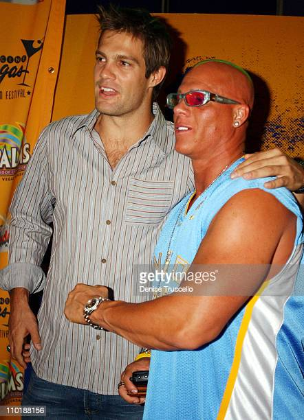 Geoff Stults and Johnny Brendan during CineVegas 2004 DEBS Premiere at The Palms Casino Resort in Las Vegas Nevada