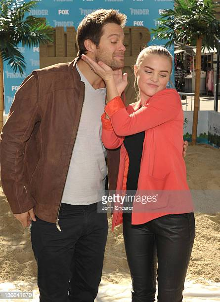 Geoff Stults and Maddie Hasson attend Fox's The Finder Challenge at Hollywood Highland Courtyard on January 9 2012 in Hollywood California