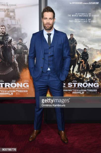 Geoff Stults attends the world premiere of '12 Strong' at Jazz at Lincoln Center on January 16 2018 in New York City