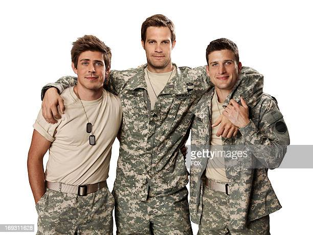 Geoff Stults Chris Lowell and Parker Young star in the irreverent and heartfelt singlecamera comedy ENLISTED premiering late fall on FOX