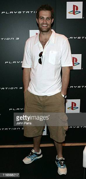 Geoff Stults during Super Bowl XLI PlayStation Oasis Day 2 at Raleigh Hotel in Miami Beach Florida