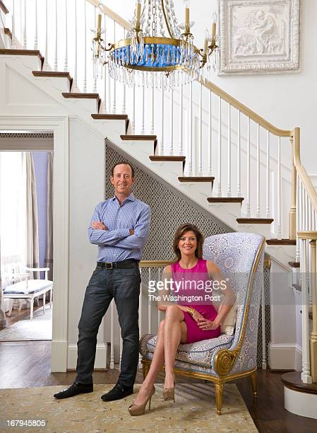 Geoff Tracy and his wife Norah O'Donnell pose in their Wesley Heights home Geoff Tracy is owner of five restaurants in the DC area including Chef...