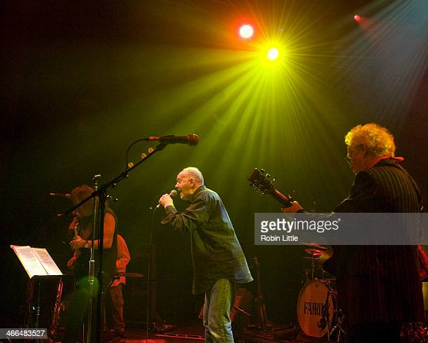 Geoff Whitehorn Roger Chapman and Jim Cregan of Family perform on stage at Shepherds Bush Empire on February 1 2014 in London United Kingdom
