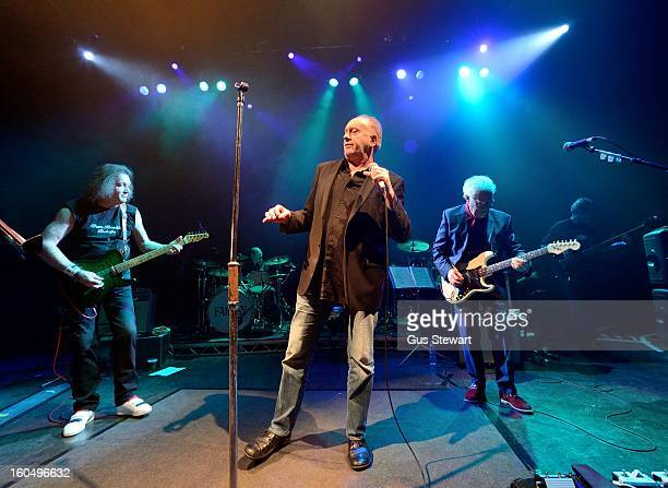 Geoff Whitehorn Roger Chapman and Jim Cregan of Family perform on their 40th anniversary at O2 Shepherd's Bush Empire on February 1 2013 in London...