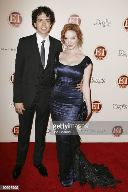 Geoffrey Arend and Christina Hendricks arrives at Vibiana for the 13th Annual Entertainment Tonight and People magazine Emmys After Party on...