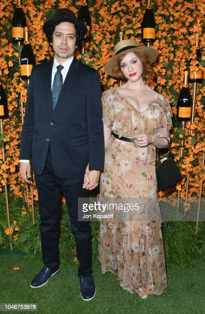 Geoffrey Arend and Christina Hendricks attend the 9th Annual Veuve Clicquot Polo Classic Los Angeles at Will Rogers State Historic Park on October 6...
