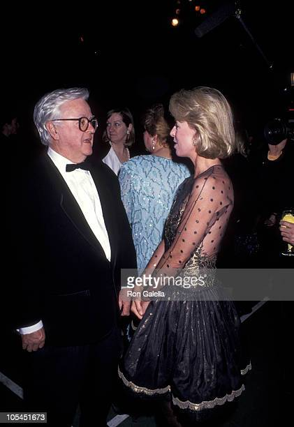 Geoffrey Beene and Anne Bass during Metropolitan Home Show A Street of Shops Gala at 7th Regiment Armory in New York City New York United States