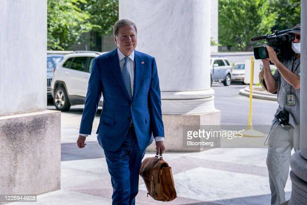 Geoffrey Berman former US attorney for the Southern District of New York arrives to the Rayburn House Office building in Washington DC US on Thursday...