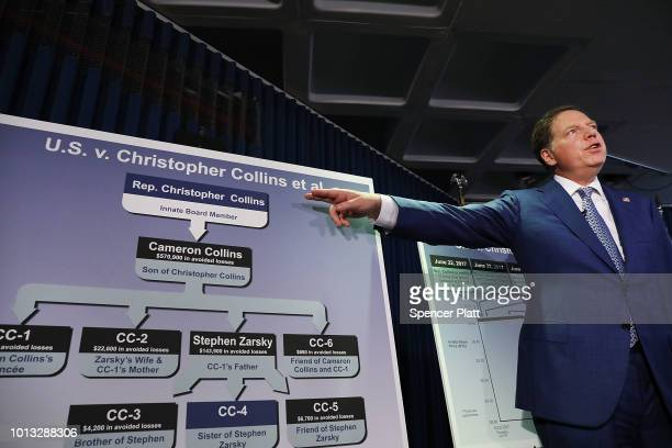Geoffrey Berman the US Attorney for the Southern District of New York explains to the media the insider trading case against Rep Chris Collins on...