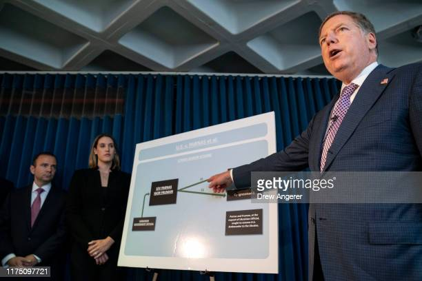 Geoffrey Berman US Attorney for the Southern District of New York speaks during a press conference at the US Attorneys office of Southern District of...