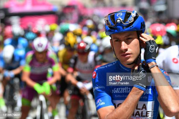 Geoffrey Bouchard of France and AG2R Citröen Team blue mountain jersey at start in Perugia Village during the 104th Giro d'Italia 2021, Stage 12 a...