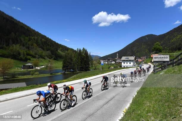 Geoffrey Bouchard of France and AG2R Citröen Team blue mountain jersey, Daniel Martin of Ireland and Team Israel Start-Up Nation, Dries De Bondt of...