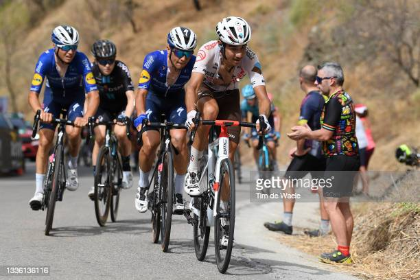 Geoffrey Bouchard of France and AG2R Citröen Team leads The Breakaway during the 76th Tour of Spain 2021, Stage 10 a 189km stage from Roquetas de Mar...