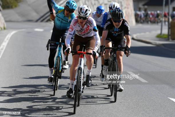 Geoffrey Bouchard of France and Ag2R Citroen Team during the 44th Tour of the Alps 2021, Stage 3 a 162km stage from Imst to Naturns-Naturno /...
