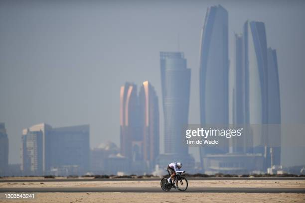 Geoffrey Bouchard of France and AG2R Citroën Team during the 3rd UAE Tour 2021, Stage 2 a 13km Individual Time Trial from Al Hudayriyat Island to Al...