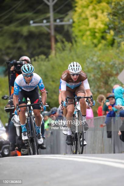 Geoffrey Bouchard of France and AG2R La Mondiale, Miles Scotson of Australia and Equipe Cycliste Groupama-FDJ, Guillaume Boivin of Canada and Israel...