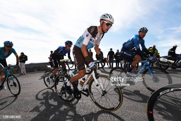 Geoffrey Bouchard of France and Team Ag2R La Mondiale / Davide Villella of Italy and Movistar Team / during the 103rd Giro d'Italia 2020, Stage 17 a...