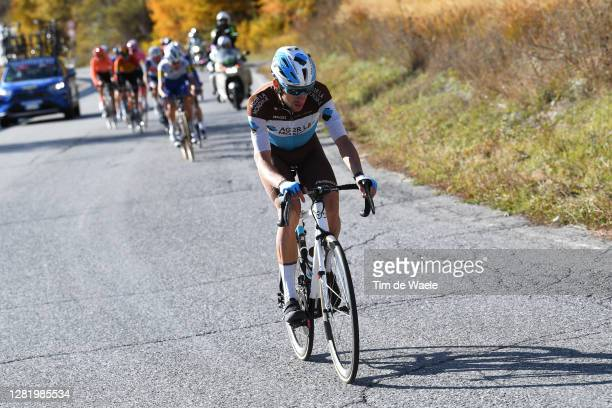 Geoffrey Bouchard of France and Team Ag2R La Mondiale / during the 103rd Giro d'Italia 2020, Stage 20 a 190km stage from Alba to Sestriere 2035m /...