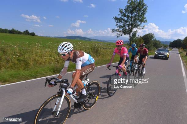 Geoffrey Bouchard of France and Team Ag2R La Mondiale / James Whelan of Australia and Team EF Education First / Hugo Houle of Canada and Astana Pro...