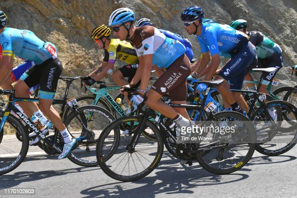 Geoffrey Bouchard of France and Team AG2R La Mondiale / Jorge Arcas of Spain and Movistar Team / during the 74th Tour of Spain 2019, Stage 2 a...