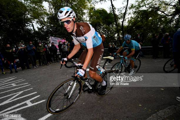 Geoffrey Bouchard of France and Team Ag2R La Mondiale / Manuele Boaro of Italy and Astana Pro Team / Breakaway / during the 103rd Giro d'Italia 2020,...