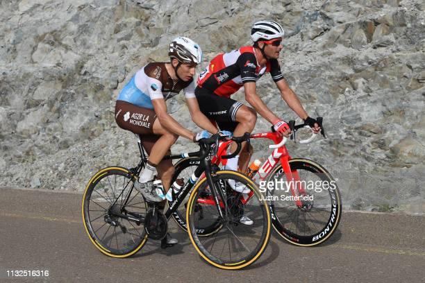 Geoffrey Bouchard of France Team AG2R La Mondiale / William Clarke of Australia and Team Trek-Segafredo / during the 5th UAE Tour 2019, Stage 4 a...