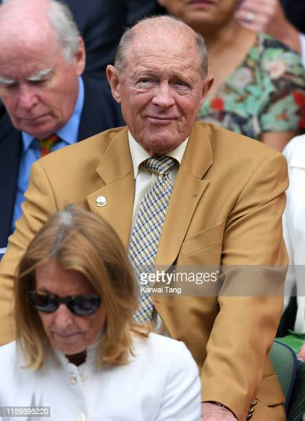 Geoffrey Boycott attends day 2 of the Wimbledon Tennis Championships at the All England Lawn Tennis and Croquet Club on July 02, 2019 in London,...