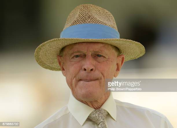Geoffrey Boycott before the fifth day of the first Ashes cricket test match between Australia and England at the Gabba on November 27, 2017 in...