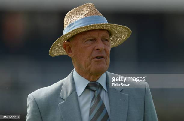 Geoffrey Boycott looks on before the 2nd Natwest Test match between England and Pakistan at Headingley cricket ground on June 1, 2018 in Leeds,...