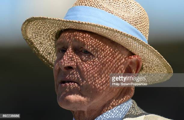 Geoffrey Boycott looks on before the first day of the third Ashes cricket test match between Australia and England at the WACA on December 14, 2017...