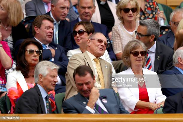 Geoffrey Boycott looks on from the royal box on centre court on day two of the Wimbledon Lawn Tennis Championships at the All England Lawn Tennis and...