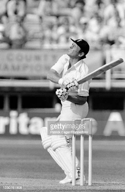 Geoffrey Boycott of England batting during his innings of 155 runs in the 1st Test match between England and India at Edgbaston, Birmingham, 12th...