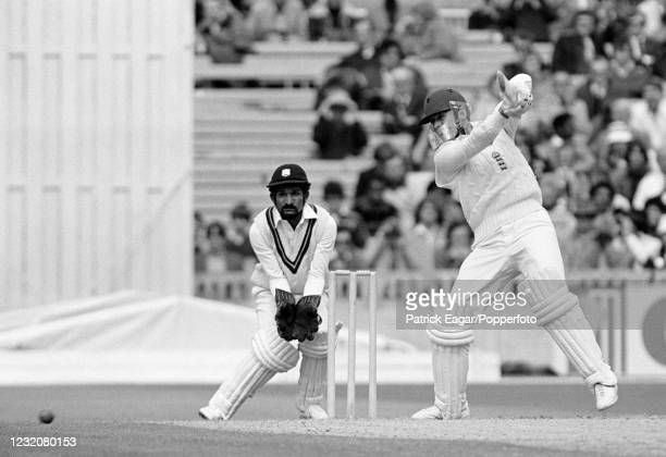 Geoffrey Boycott of England batting during his innings of 86 runs in the 3rd Test match between England and West Indies at Old Trafford, Manchester,...