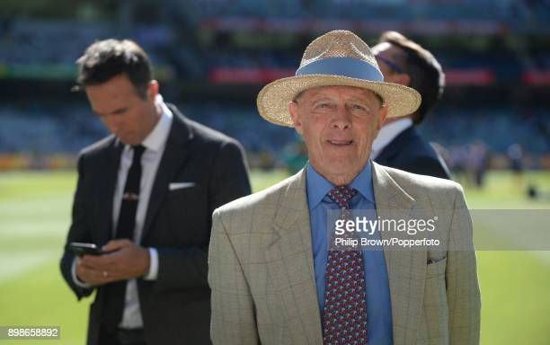 Geoffrey Boycott waits around before the first day of the fourth Ashes cricket test match between Australia and England at the Melbourne Cricket...