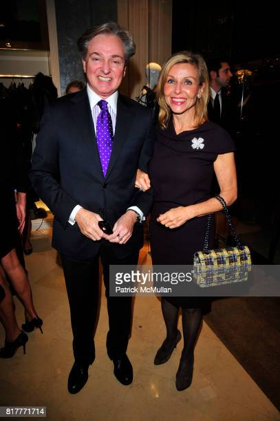 Geoffrey Bradfield and Amy Hoadley attend Kick Off Celebration in Honor of the Silver Hill Hospital Gala 80th Anniversary at Dennis Basso NYC on...