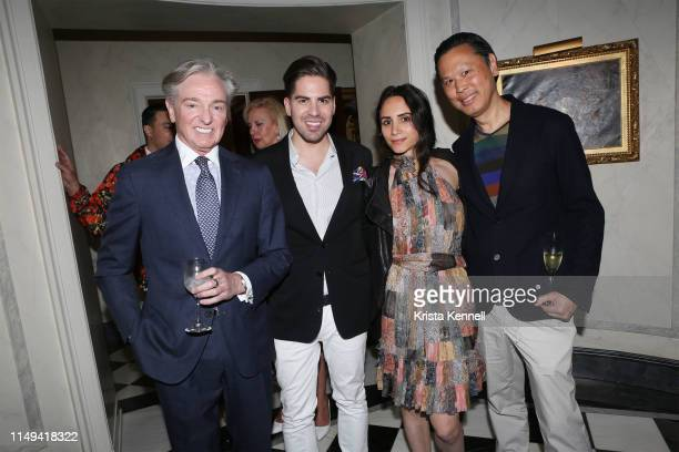 Geoffrey Bradfield Michael Arguello Elizabeth Shafiroff and Greg Kan at Martin and Jean Shafiroff Host Cocktails for Surgeons of Hope at Private...