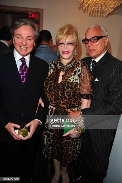 Geoffrey Bradfield Monique Van Vooren and Richard Turley attend EL MUSEO 2009 PreGala at Mauboussin NYC on April 27 2009